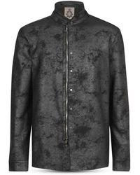 John Varvatos Regular Fit Shirt Jacket - Black