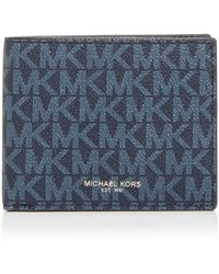 Michael Kors Greyson Logo Slim Billfold Wallet - Blue