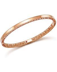 Roberto Coin | 18k Rose Gold Symphony Princess Bangle Bracelet | Lyst