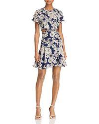 Bardot - Brianna Floral Print Cutout Dress - Lyst