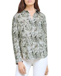 L'Agence Holly Leopard Print Shirt - Green