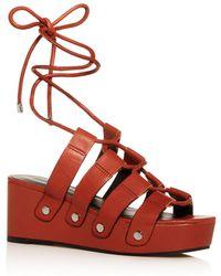 Rebecca Minkoff Women's Iven Platform Wedge Sandals - Brown