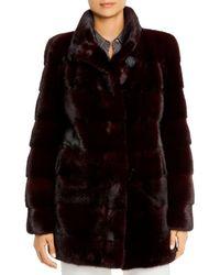 Maximilian Mink Fur Coat - Black