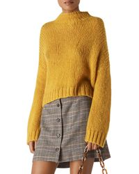Whistles Oversize Funnel Neck Sweater - Yellow
