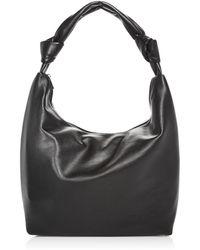 Aqua Slouchy Hobo Bag - Black