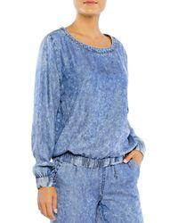 Billy T Denim Sweatshirt - Blue