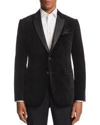 Armani - Emporio M - Line Contrast - Collar Velvet Tailored Fit Jacket - Lyst