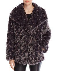 T Tahari - Roslyn Faux Fur Coat - Lyst