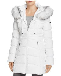 Laundry by Shelli Segal - Windbreaker Faux Fur Trim Coat - Lyst