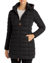 Save The Duck Hooded Faux Down Jacket - Black