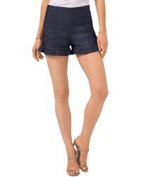 1.STATE Ruffled Hem Shorts - Blue