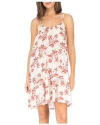 B Collection By Bobeau Floral Ruffled Trapeze Dress - Pink
