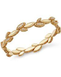 Roberto Coin 18k Yellow Gold Diamond Petals Diamond Bracelet - Metallic