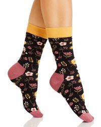 Happy Socks Printed Crew Socks - Black