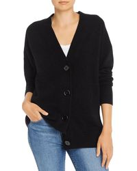 Equipment Cashmere Button - Front Elder Cardigan - Black