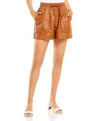 Joie Regan Faux Leather Shorts - Multicolour