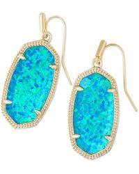 Kendra Scott Dani Kyocera Opal Drop Earrings - Blue