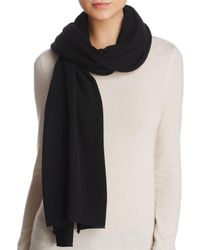 C By Bloomingdale's Oversized Cashmere Travel Wrap - Black