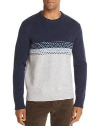 Bloomingdale's Color - Block Fair - Isle Merino Wool Sweater - Blue