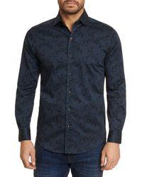 Robert Graham Davino Stretch Paisley Shirt - Black