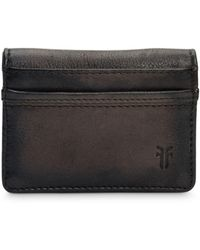 Frye Murray Folding Card Case - Black