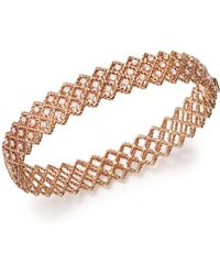 Roberto Coin - 18k Rose Gold New Barocco Diamond Bangle - Lyst