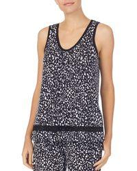 Donna Karan Sleepwear New York Printed Tank Top - Black