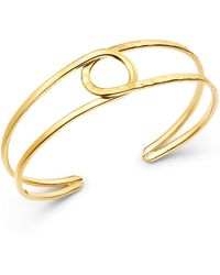 Bloomingdale's - 14k Yellow Gold Circle Cuff - Lyst