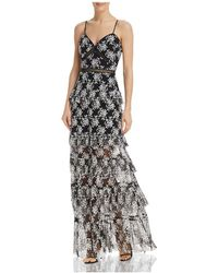 Aqua - Tiered Floral Gown - Lyst