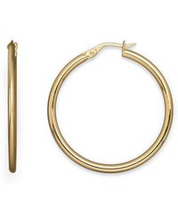 Roberto Coin - 18k Yellow Gold Round Hoop Earrings - Lyst