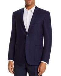 Canali Siena Textured Weave Classic Fit Sport Coat - Blue