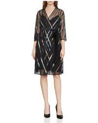 BCBGMAXAZRIA - Devon Embellished Faux-wrap Dress - Lyst