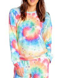 Pj Salvage Stardust Rainbow Tie - Dye Top - Multicolour
