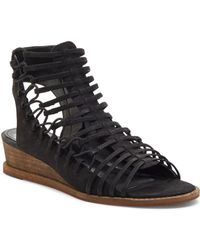 Vince Camuto Women's Romera Nubuck Leather Strappy Sandals - Black