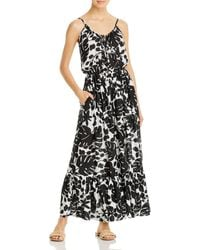 Kate Spade Sleeveless Printed Cover - Up Maxi Dress - Black