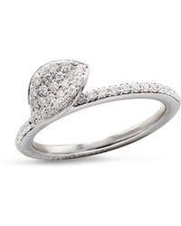 Pasquale Bruni - 18k White Gold Secret Garden Single Petal Pavé Diamond Ring - Lyst