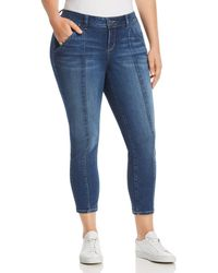 Slink Jeans Plus Seamed Ankle Jeans In Francis - Blue