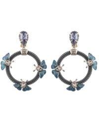 Alexis Bittar - Floral Chain Loop Clip-on Drop Earrings - Lyst