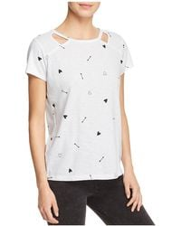 Marc New York - Performance Printed Cutout Tee - Lyst
