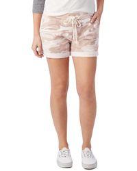 Alternative Apparel Camo Drawstring Shorts - Pink