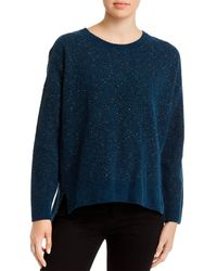 Eileen Fisher Speckled Organic - Cotton Crewneck Sweater - Blue