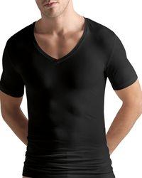 Hanro - Cotton Superior Short - Sleeve V - Neck - Lyst