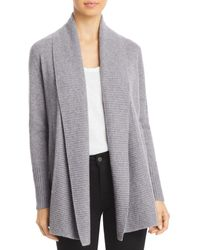C By Bloomingdale's Shawl - Collar Cashmere Cardigan - Grey