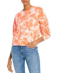 Aqua Tie - Dyed Sweatshirt - Orange