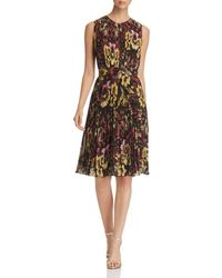 Catherine Malandrino - Desree Pleated Floral-print Dress - Lyst