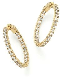 Bloomingdale's - Diamond Inside Out Hoop Earrings In 14k Yellow Gold, 1.50 Ct. T.w. - Lyst