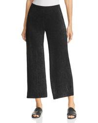 Three Dots - Textured Metallic Wide-leg Pants - Lyst