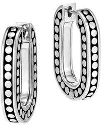 John Hardy - Sterling Silver Dot Small Link Earrings - Lyst
