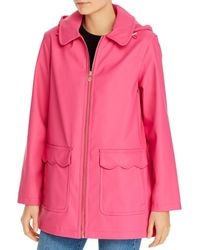 Kate Spade Scallop Trim Coat - Pink