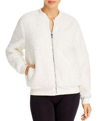 Aqua Athletic Sherpa Faux Fur Bomber Jacket - White